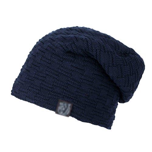 Azul Gorro Exquisito Sombreros Cómodo Hombre Casual Cálido de de Invierno Marino Punto Diseño YiJee w7qA8Zn
