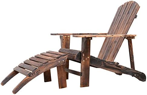 Outsunny Wooden Adirondack Chair Lounger