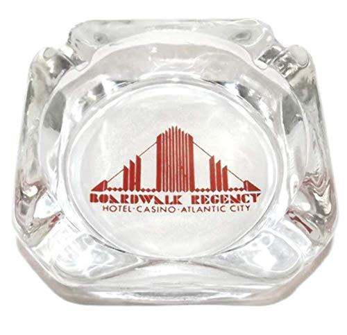Vintage Boardwalk Regency Hotel Casino Advertising Glass Ashtray - Atlantic City, NJ