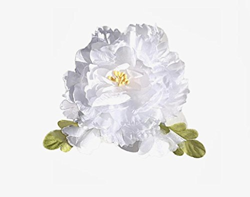 (Cuteque International Organza and Silk Peony with 2 Rosebuds Attached (Pack of 3), 4