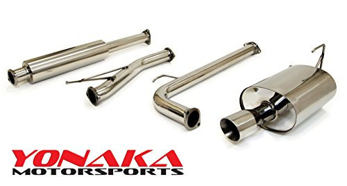 - Yonaka Compatible with 2003-2005 Honda Accord Stainless Steel Performance Catback Exhaust 4-CYL 4-DR