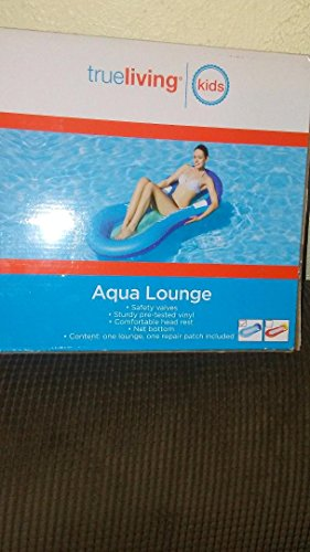 "Aqua Comfort Water Lounge, Inflatable Pool Float Recliner and Tanner, Superior Buoyancy, 63"" Lounger Pool Float Toy"