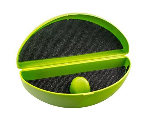 Étui pour lunettes de soleil et lunettes très bombées avec hauteur ajustable dans divers coloris vert pomme