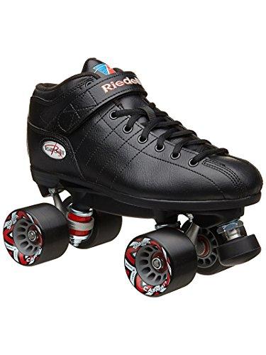 Riedell Skates R3 Roller Skate,Black,5