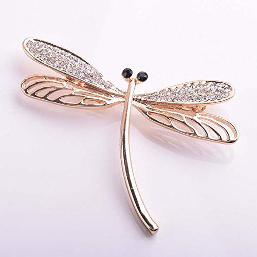 Elegant Women Rhinestone Dragonfly Insect Brooch Lapel Pin Gifts Fashion Jewelry