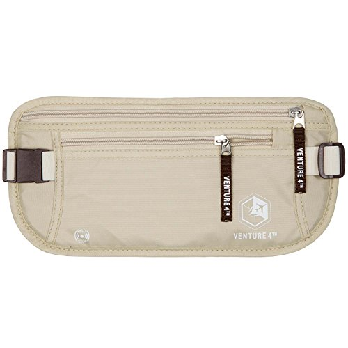 Undercover Nylon Belt - VENTURE 4TH Undercover Money Belts For Travel (Beige)