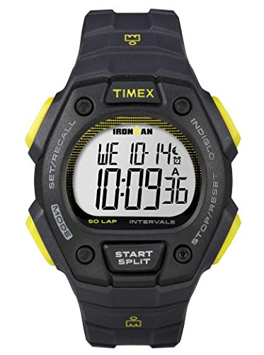 - Timex Ironman 50 Lap Classic Watch Dark Grey/Lime