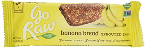 Go Raw Organic Banana Bread Flax Bar 10 Bars 12 g Each