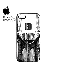 Hello Brooklyn New York Mobile Cell Phone Case For Iphone 5/5S Cover&5s Black