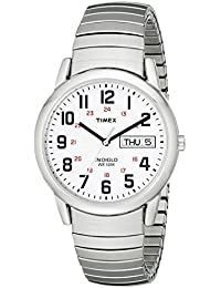 Timex Men's T20461 Easy Reader Silver-Tone Stainless...