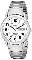 Timex Men's T20461 Easy Reader Silver-Tone Stainless Steel Expansion Band Watch