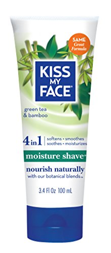 Kiss My Face Moisture Shave Shaving Cream, Green Tea and Bamboo Shaving Soap, 3.4 Ounce Travel ()