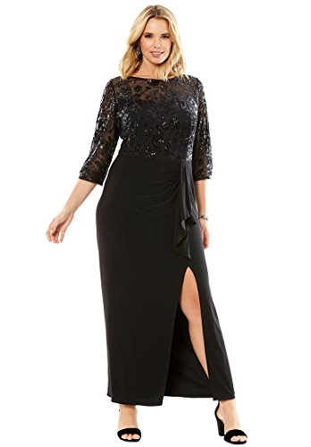 embellished bodice dress - 8