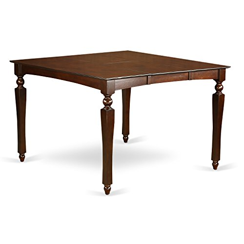 East West Furniture CHT-MAH-T Counter Height Dining Table with 18-Inch Butterfly Leaf