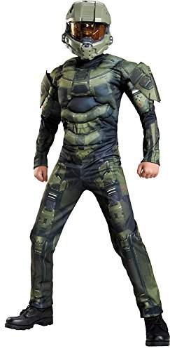BESTPR1CE Boys Halloween Costume-Master Chief Classic Muscle Kids Costume XLarge 14-16 -