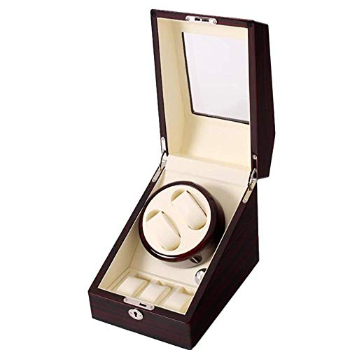 (MENG-DuDu Black and White Shaker Mechanical Watch On The Chain Box Turntable Watch Storage Box)