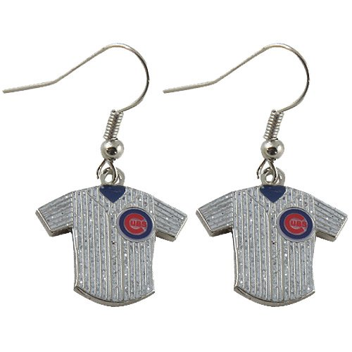Chicago Cubs Glitter Jersey Earrings by Aminco