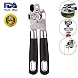 Can Opener Manual,Stainless Steel Smooth Edge,Lock The Track Well And Easy Cut,Ergonomically Designed Handle,Can Opener For Seniors With Arthritis