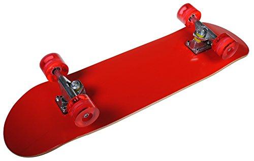 Shop4Omni Full Size Maple Deck Skateboard with Set of Cruiser Wheels (Red) (Skateboard Maple Decks)