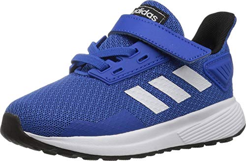 adidas Performance Unisex-Kids Duramo 9 Running Shoe, Blue/White/Black, 2 M US Little Kid