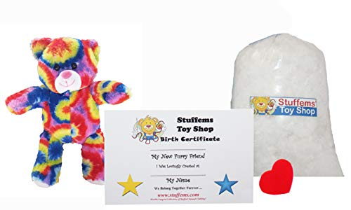 (Make Your Own Stuffed Animal Mini 8 Inch Rainbows the Bear Kit - No Sewing Required!)