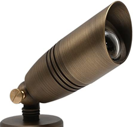 Spotlight //directional bullet light for outdoor landscape//garden BRASS