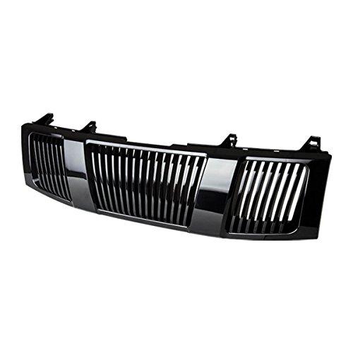 For Nissan Titan/Armada ABS Plastic Vertical Front Upper Bumper Grille (Black) - 1st Gen TA60