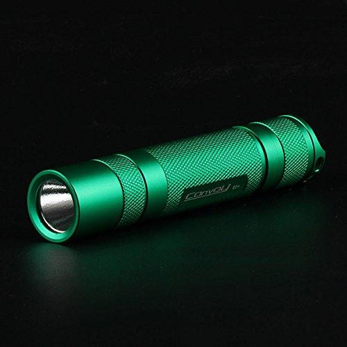 Convoy S2+ Green XM-L2 71358 3/5Modes EDC LED Flashlight (Design XML2 T4-7A)