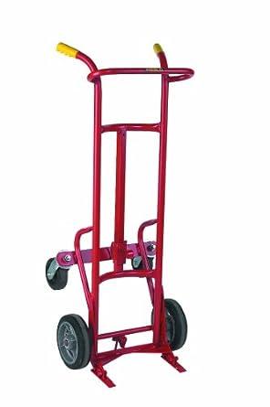 Wesco 240121 acero ergonómico tambor camión, moldon ruedas de goma, 1000-lb.