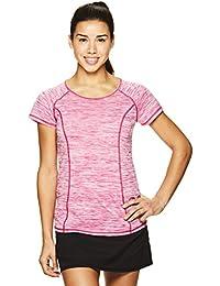 Women's High Jump Short Sleeve Workout T-Shirt - Performance V-Neck Activewear Top
