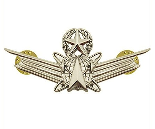 Vanguard AIR FORCE BADGE: SPACE MASTER BADGE - REGULATION SIZE - MIRROR FINISH