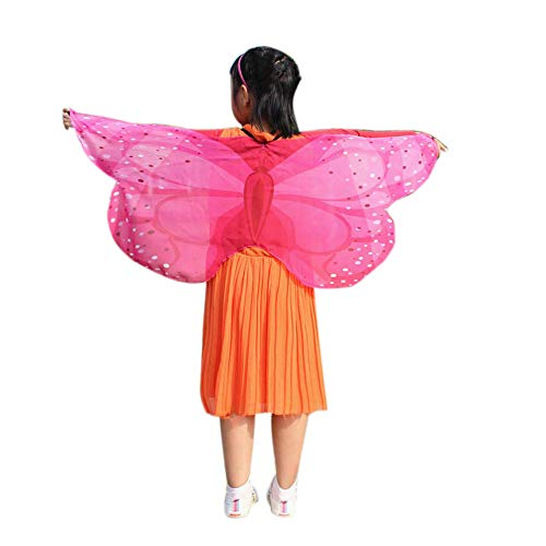 WOCACHI Baby Girls and Boys Butterflies Wings Cape,