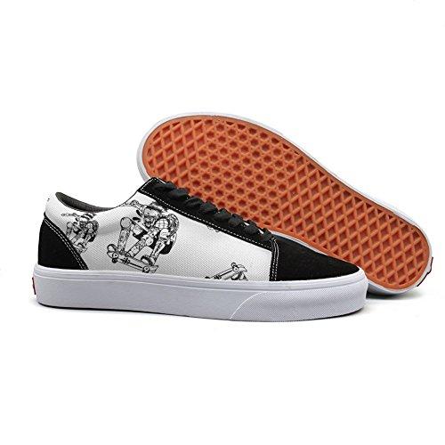 Jims Flywheel (Armsttm Women Skate Shoes skate skateboarding sketch Classic Suede Sneaker)