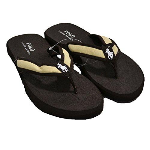 Polo Ralph Lauren Mens Sandales Flip-flop Brun