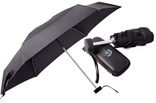 CVC-EG Compact Umbrella, Mini Umbrella - Small Umbrella for Travel - Pocket-Size Perfect for Purse, Backpack - Waterproof Case and Fabric Case (Umbrella Person One)