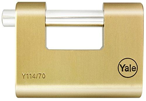 Yale Locks YALY11470 Yale Brass Shutter Padlock 70 mm