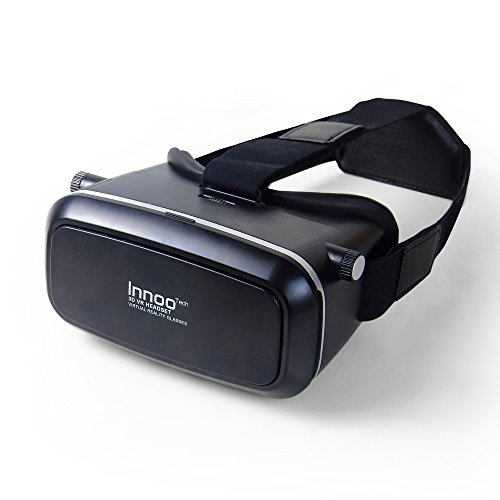 Innoo Tech Virtual Reality Glasses 3D VR Goggles Headset for Universe Exploration, 3D Movies, Panoramic immersive Videos, 3D Games Compatible with 3.5 - 6 Inch Android IOS Smartphone