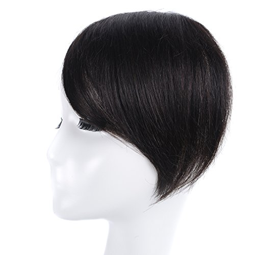 Clip in Bangs Black KNITTING One Piece 100% Real Human Hair