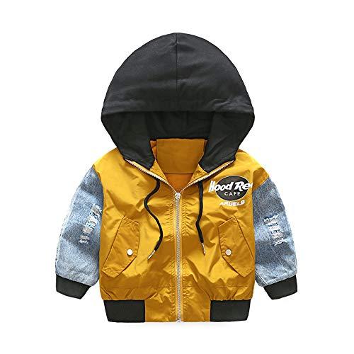 Binghang Boy's Fashion Print Zip Jacket Hooded Windproof Raincoat by Binghang (Image #4)