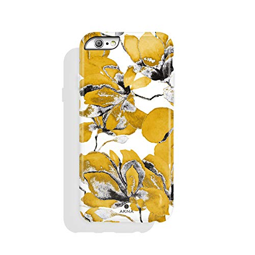 iPhone 6/6s case Flower, Akna Collection High Impact Flexible Silicon Case for Both iPhone 6 & iPhone 6s [Yellow Magnolia] (939-U.S)