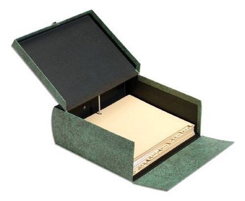 Box Globe (Globe-Weis/Pendaflex Double-Thick Box File, Letter Size, A-Z Indexes Inside, Green (22SL GRE))