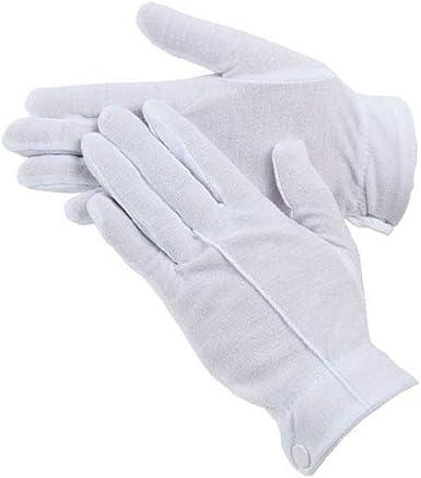 Ceremonial White Gloves Parade Multi Purpose Cotton Nylon Gloves