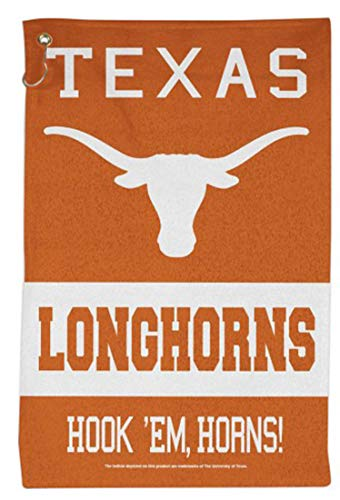 WinCraft NCAA Texas Longhorns Sport Towel with Metal Grommet and Hook, 16x25 inches