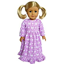 My Brittany's Lavender Bunny Nightgown for American Girl Dolls- Doll Clothes for American Girl Dolls