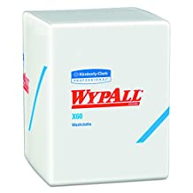 Wypall X60 Hygienic Wipes (41083), Disposable Soft Washcloths and Drying Towels, White, 70 Sheet Per Case, Case of 8