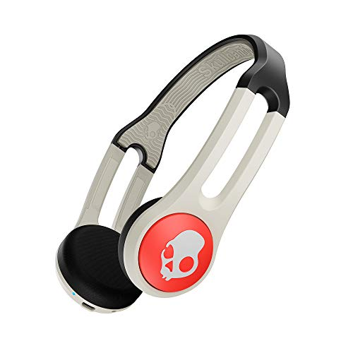 Skull Icon - Skullcandy Icon Bluetooth On-Ear Headphones with Microphone, BT Wireless, 10-Hour Long Battery Life, TapTech Call and Track Control, No-Slip Headband, Stone