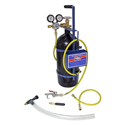 Uniweld 40002 Nitrogen Sludge Sucker and Blaster Kit with Metal Carrying Stand for 40 Cubic Feet Nitrogen Tank