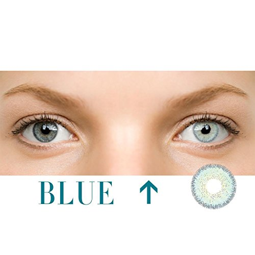 Dicesnow Multi-Color Cute Contact Lenses Color Blends Cosplay Eyes Cosmetic Makeup Eye Shadow(A Pair Blue)