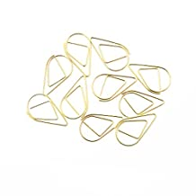 110PCS Metal Binder Clips Decorative Long Tail Paper Clip Students Clip (25mm) , Gold