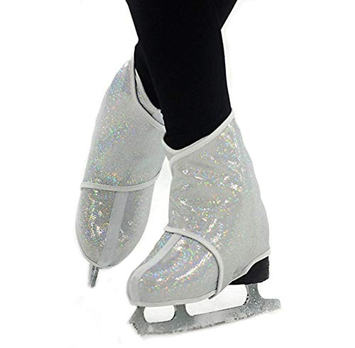 (Gr8Sk8Stuff Sk8Wraps - Insulated Skate Boot Covers (White Hologram, Size MD))